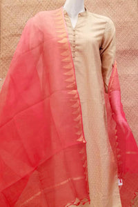 Elegant Kota Silk Dupatta with Woven border