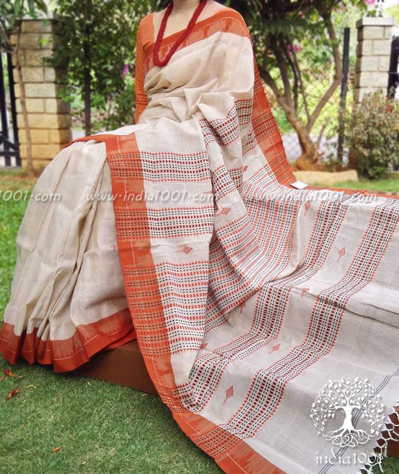 Orissa Kotpad Tussar Cotton Saree