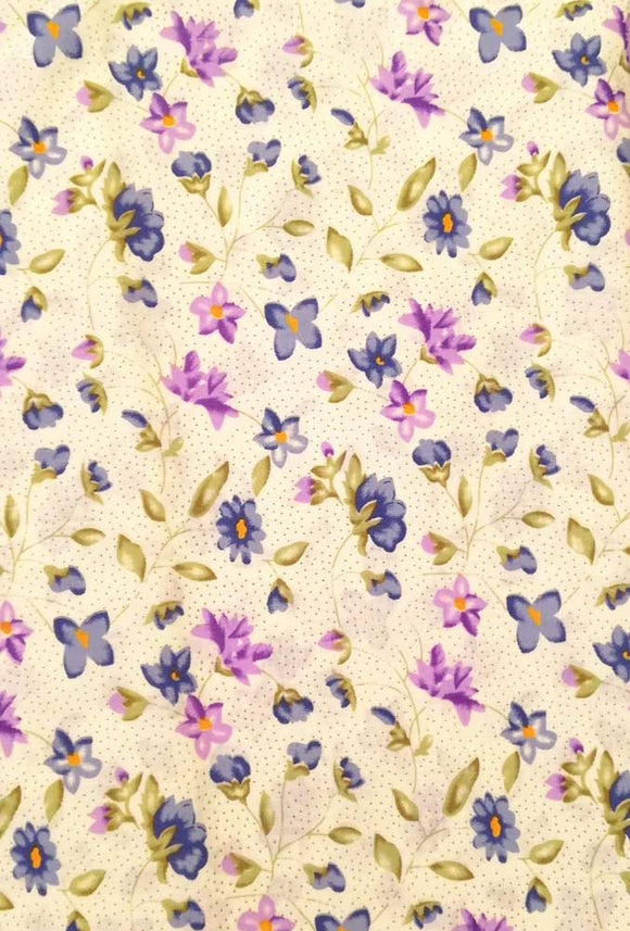 Printed Cotton Cut (blouse) Fabric