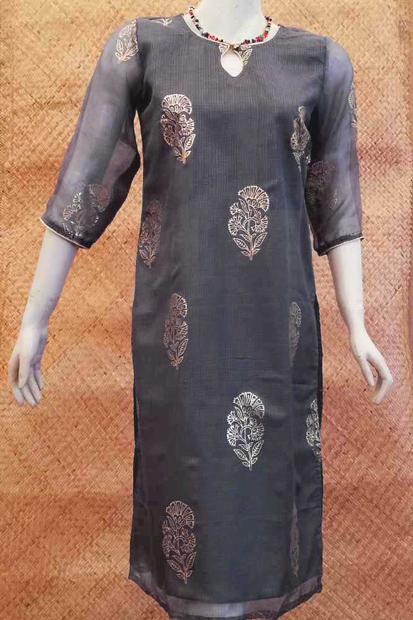 Kota Silk Long  Kurta