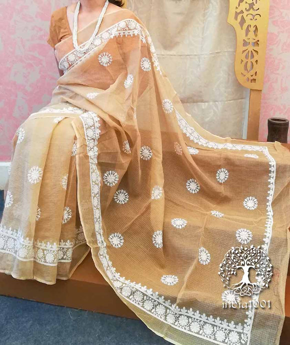 Elegant Kota Cotton Saree with Embroidery