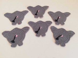 The Behemoth Butt - Handcrafted crochet coaster ( Set of 6)