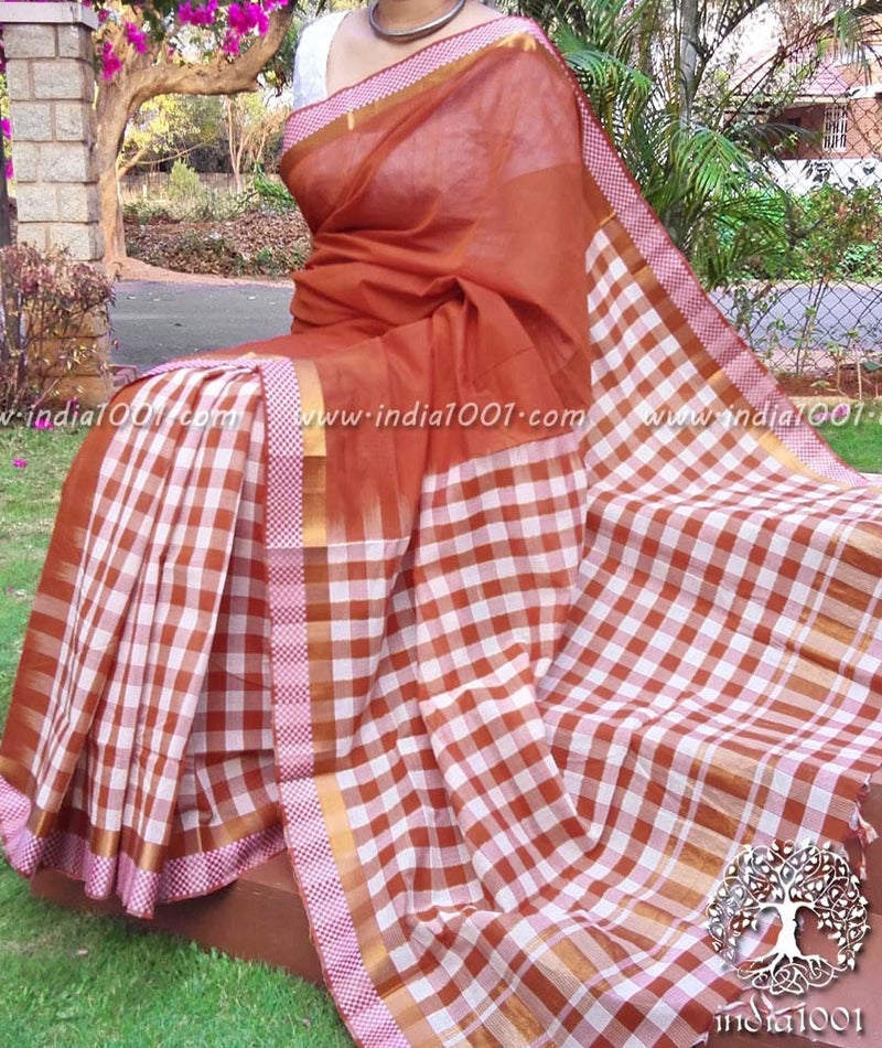 Fine & Elegant Mangalgiri Cotton Saree