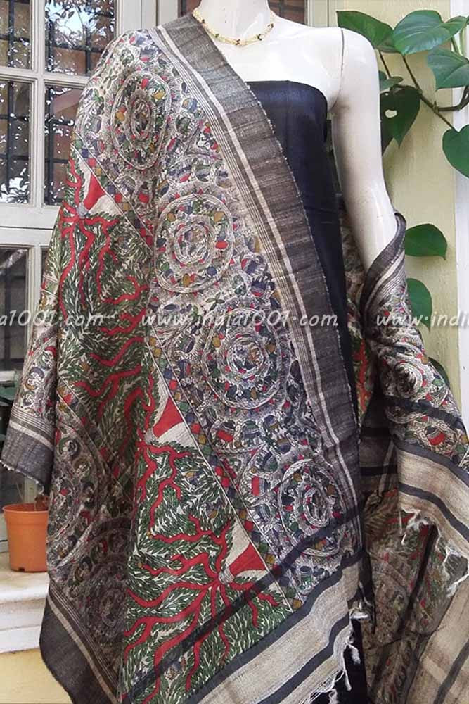 Geecha Silk and silk cotton Suit Fabric