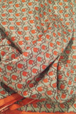 Fine silk fabric with screen print patterns