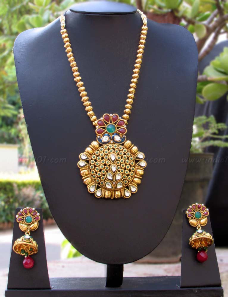 Designer Kundan, Pearl & Polki Necklace Set