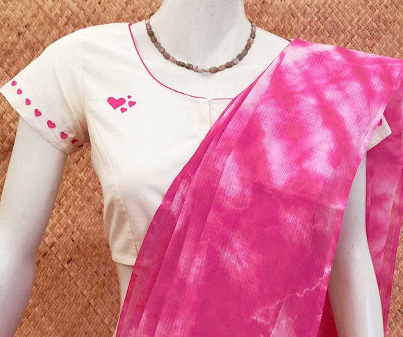 Cotton Blouse with Hand Embroidery - size - 36