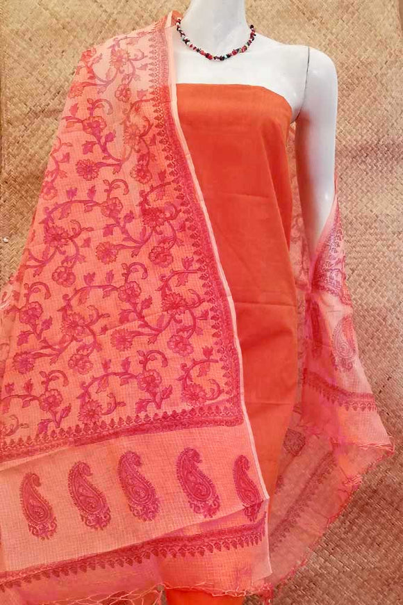 Beautiful Hand Block Printed Kota Doria Dupatta