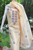 Elegant Kota Unstitched Kurta & Dupatta set with Hand done Phool patti work