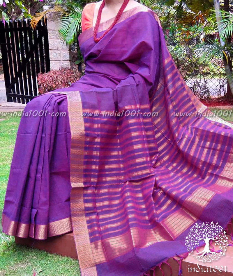 Fine & Elegant Mangalgiri Handloom Cotton Saree