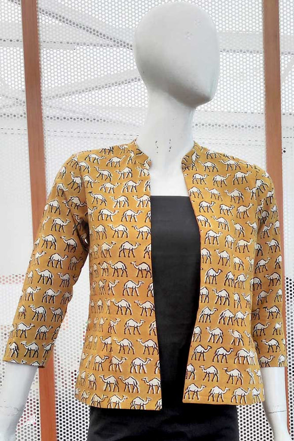 Dabu Block Printed Jacket