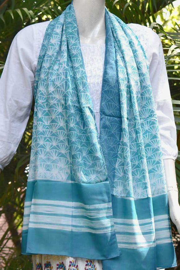 Beautiful Modal stole with Hand stitched Shibori work