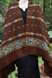 Woolen Stole with Hand Kantha Embroidery