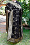 Elegant Georgette dupatta with all over sequin work & stitched borders