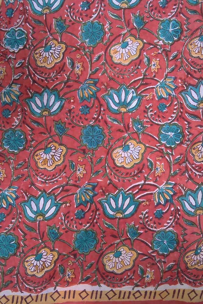 Block Printed Cotton Cut Fabric