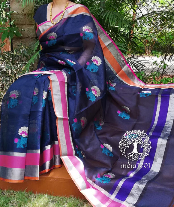 Elegant Pure Kota Silk sarees with woven motifs