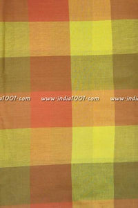 Woven Cotton checks Cut Fabric (blouse)