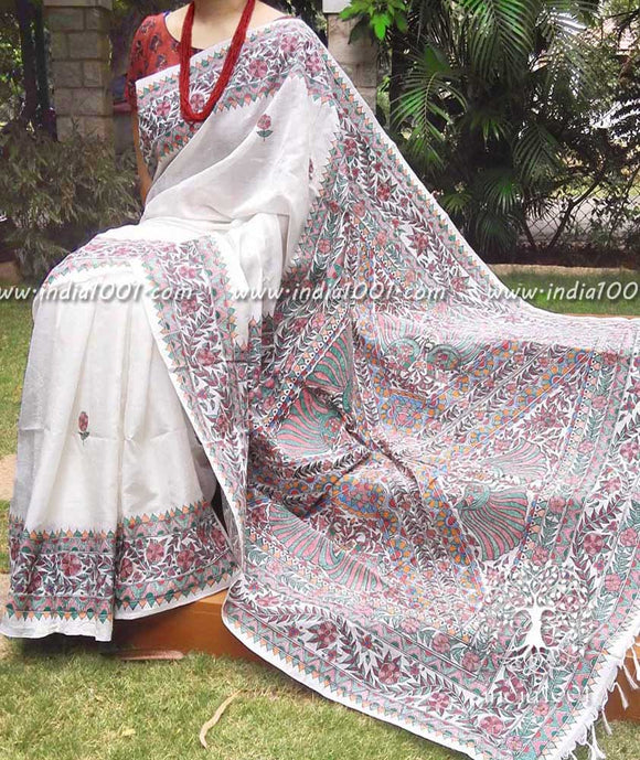 Fine and Elegant Madhubani Art saree