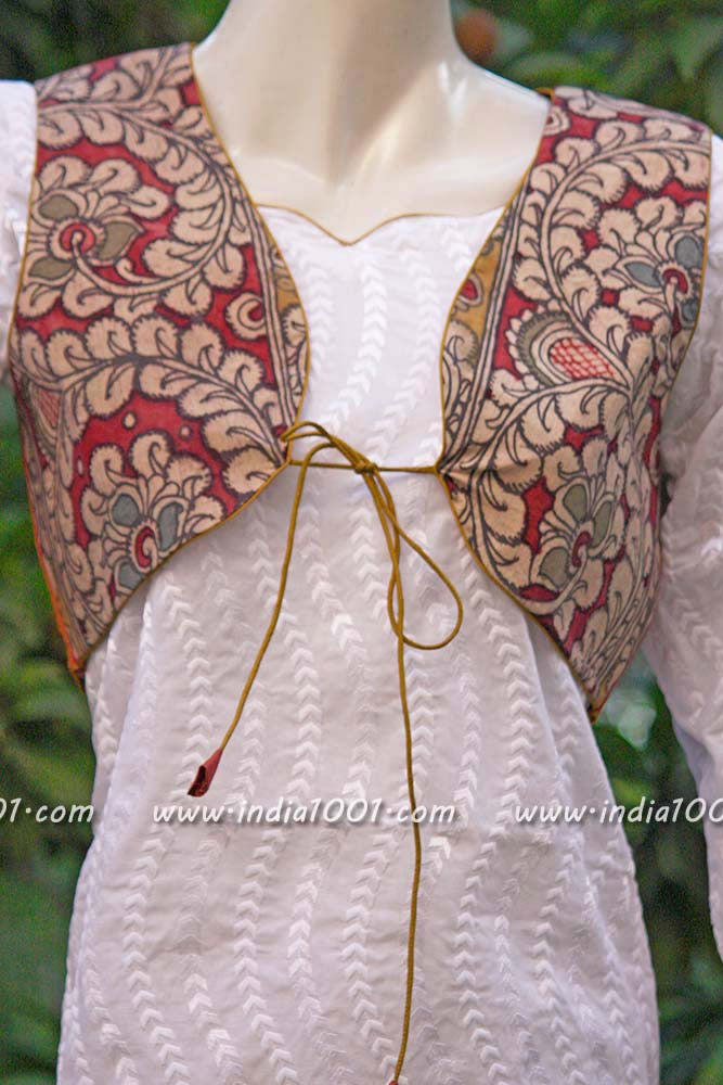 Hand Painted Kalamkari Shrug