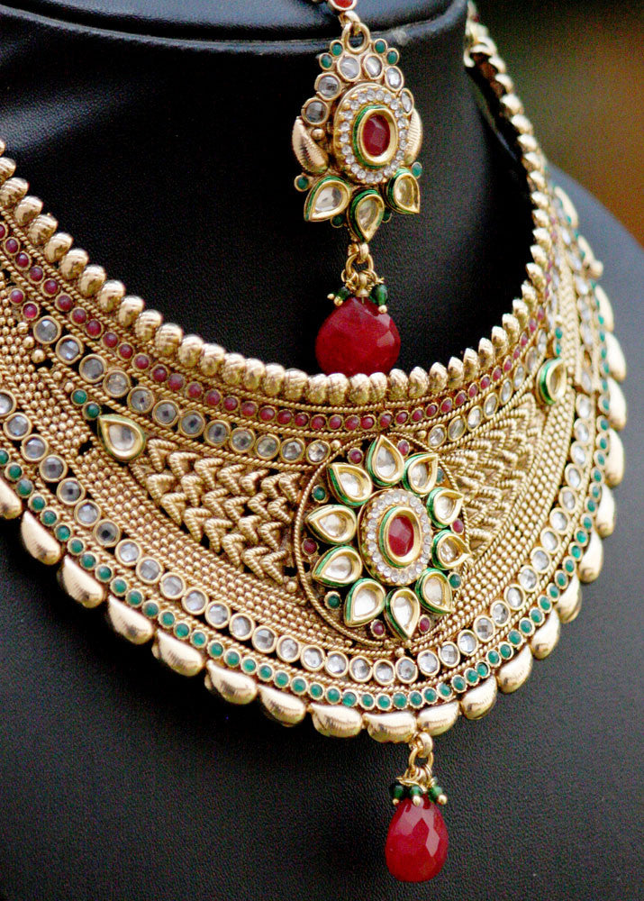 Stunning  polki and Kundan Choker set