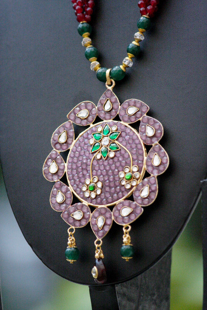 Stunning Designer Kundan & Polki Necklace Set