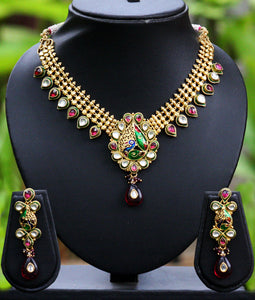 Antique kundan jali set