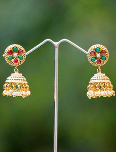 Beautiful Pearl and Polki Jhumka