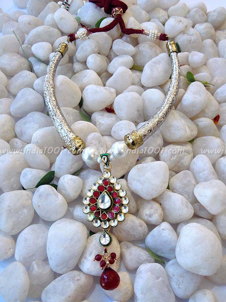 Gorgeous Kundan, AD & Pearl Necklace Set