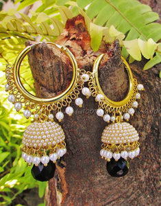 Stunning Jhumka with pearls- small
