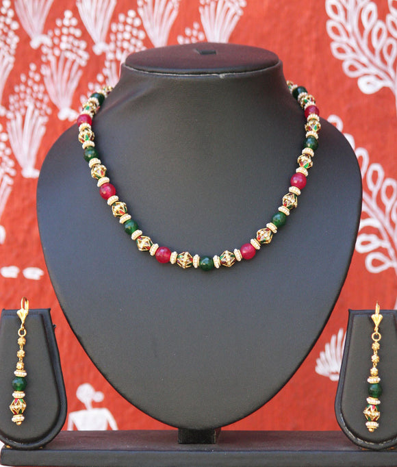 Exquisite Meenakari Mala set