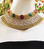 Designer Pearl & Polki Necklace Set
