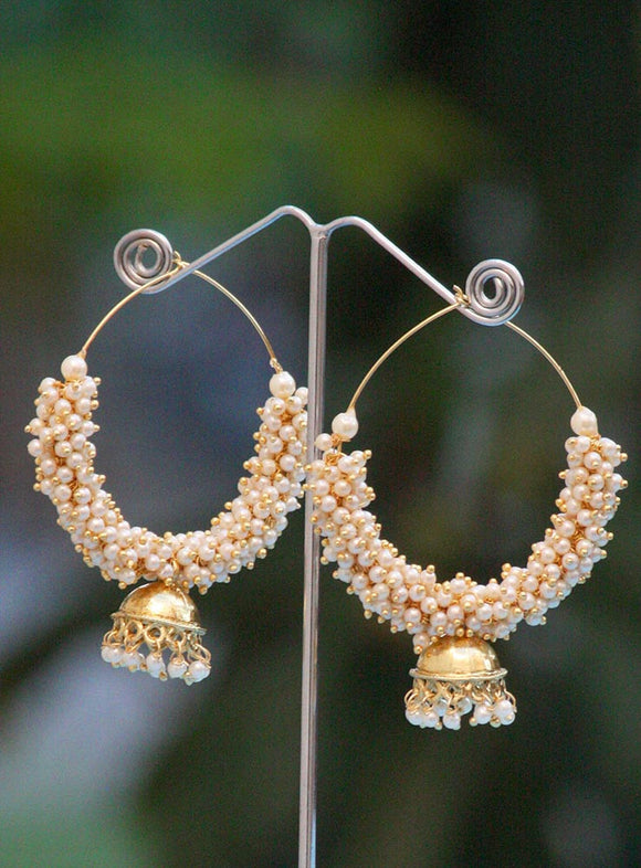 Gorgeous Pearl Bali with jhumka