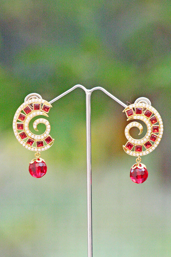 Stunning Polki & Pearl Earrings