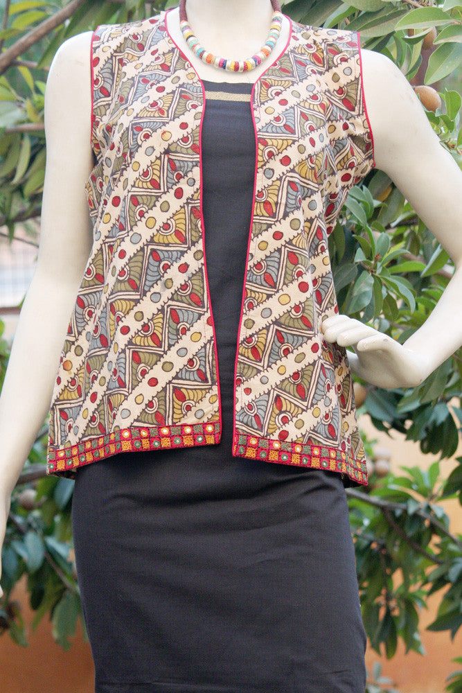Hand Painted Kalamkari Jacket- S