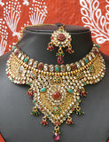 Stunning Pearl , Kundan and polki Choker Set