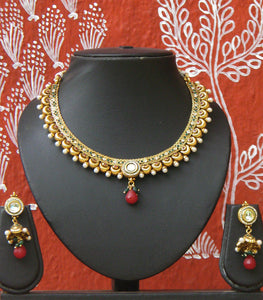 Designer Kundan, Pearl and Polki Set