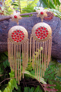 Elegant Earring in Matt Gold Finish