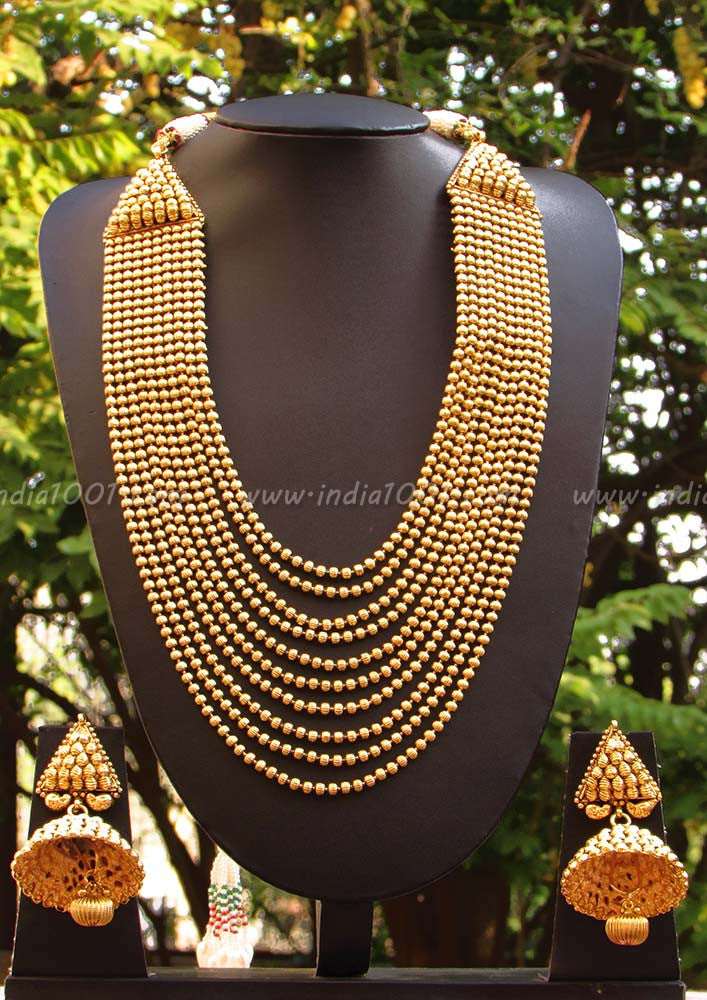 Designer Multi String Necklace Set