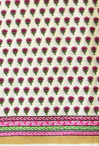 Block Printed Kerala Cotton Running Fabric
