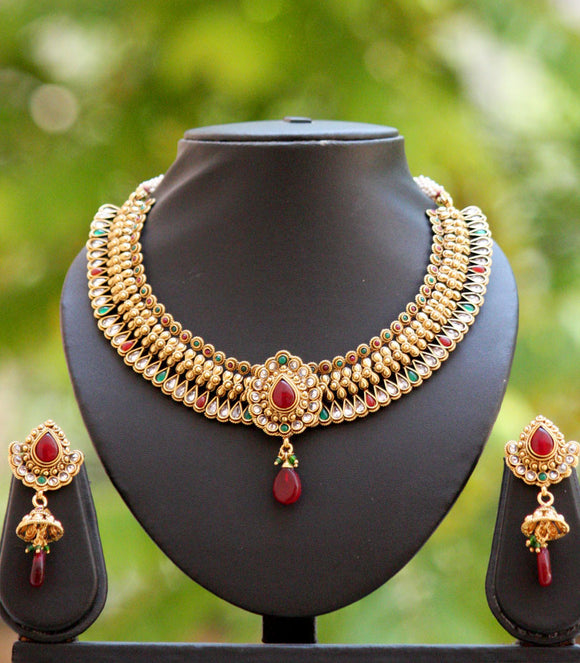 Royal Kundan & Polki Necklace Set