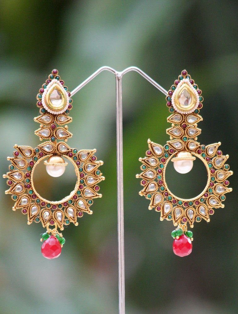 Stunning Polki & Kundan earrings