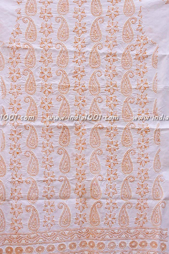 Hand  Embroidered Chikankari work fabric