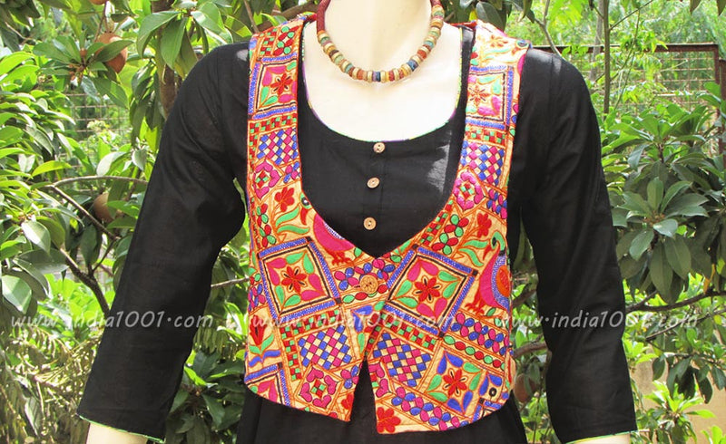 Designer Embroidered Jacket with mirror work