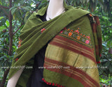 Hand Woven Shawl with Kutch Embroidery