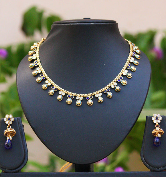 Stunning Polki & Meenakari Necklace Set