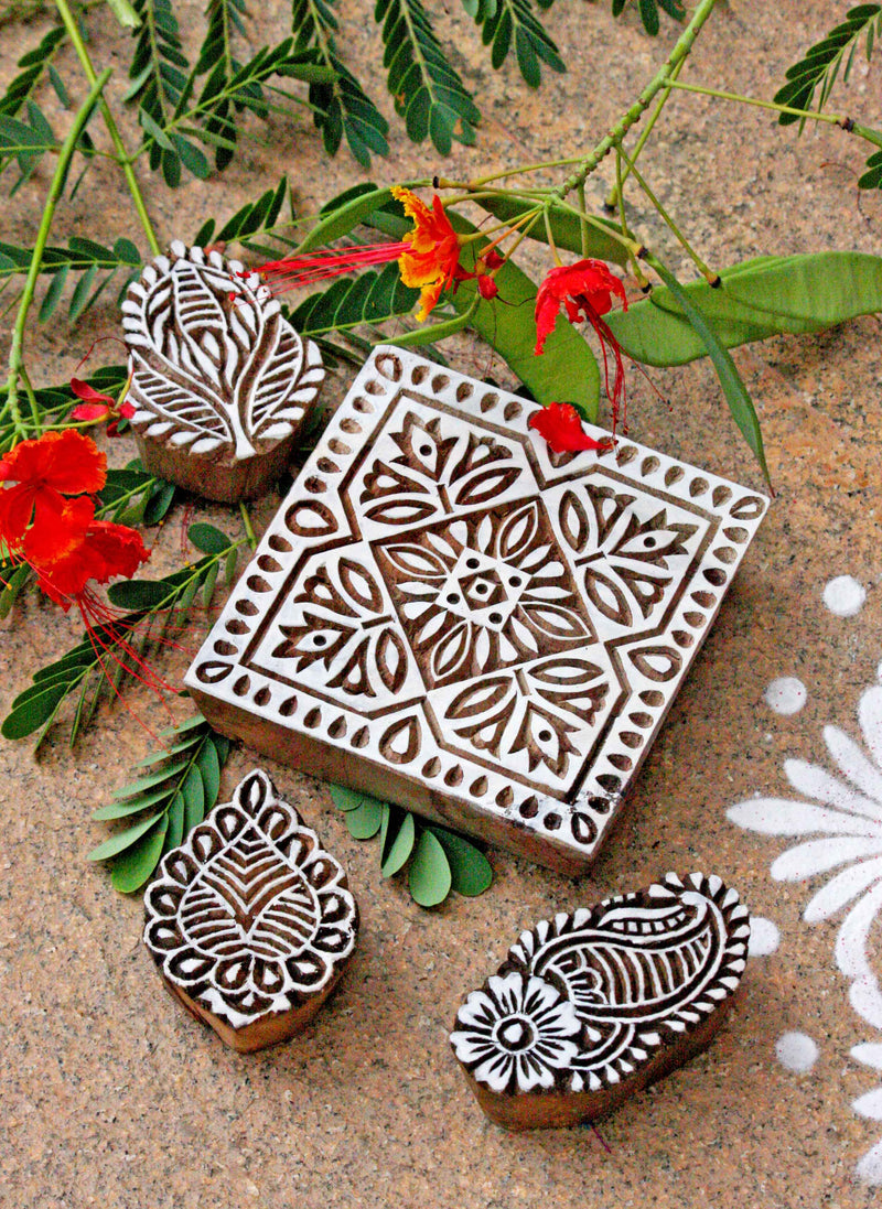 Carved Wooden Blocks - Set 38