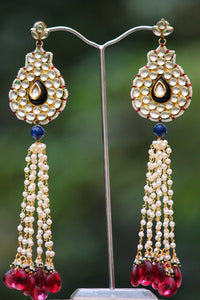 Stunning Pearl & Kundan Earrings