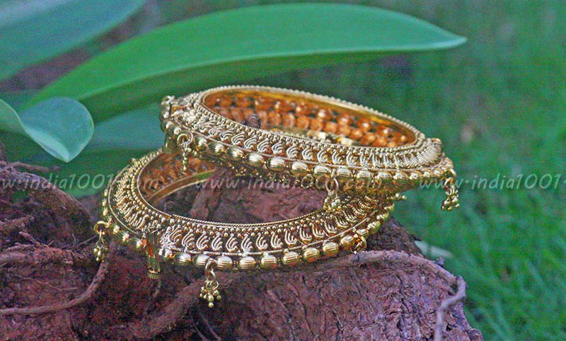 Openable Antique Gold Kadas ( bangles)