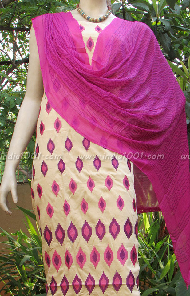 Beautiful Cotton unstiched suit fabric