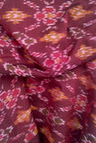 Ikkat Silk Cotton Cut (blouse) Fabric